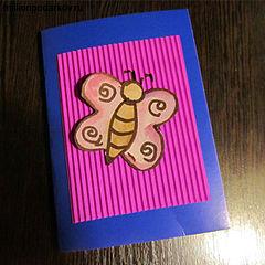 Поздравление новым, открытка из гофрированного картона своими руками
