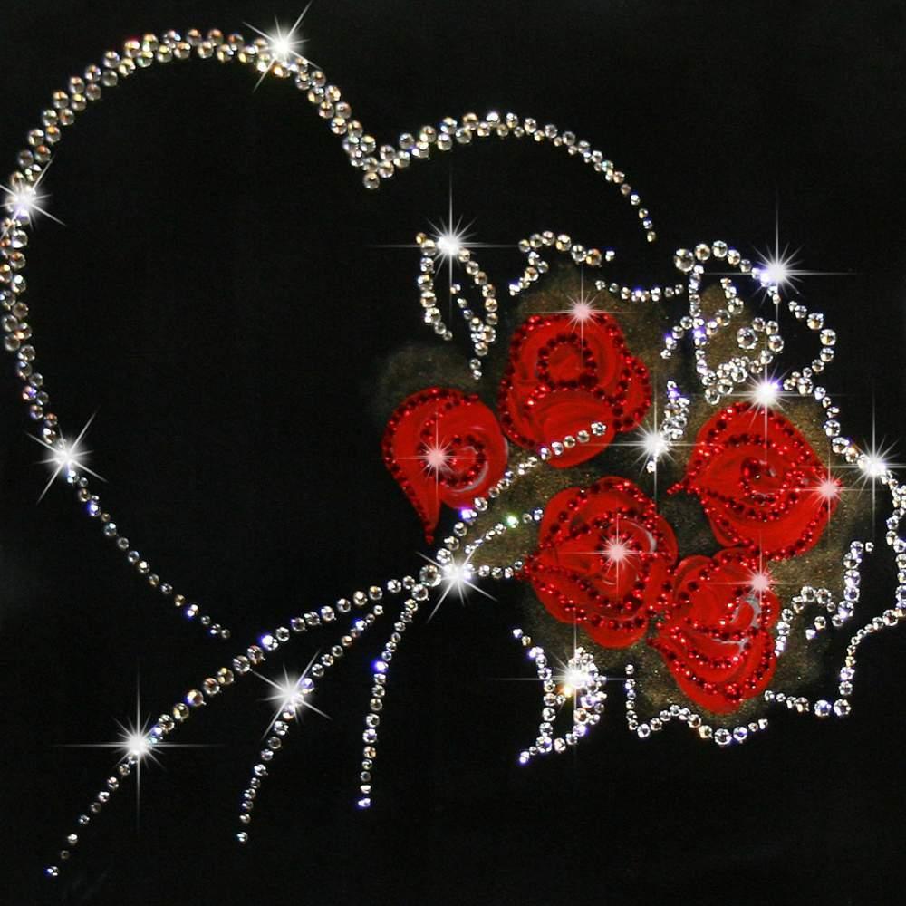 Картинки из кристаллов сваровски на телефон