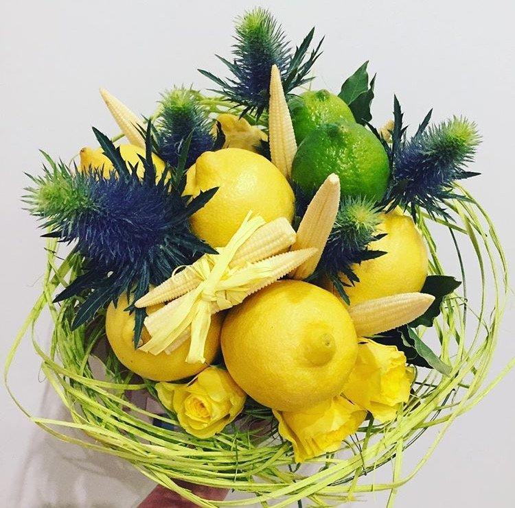 Букет из лимонов как сделать, доставка