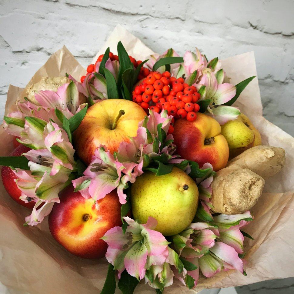 Долгопрудном база, букет с яблоками своими руками