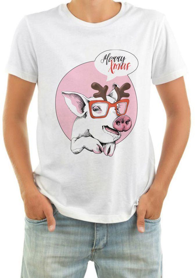 картинка на футболку свинья быть многословными
