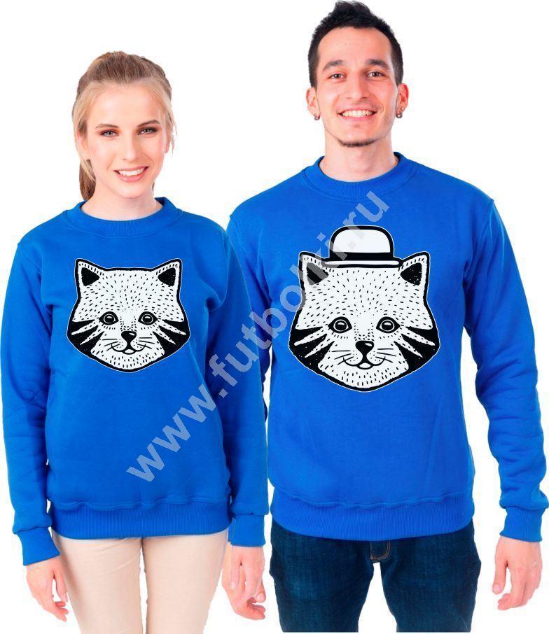 Толстовки парные Кошка, кот в шляпе 7203544 купить в ...
