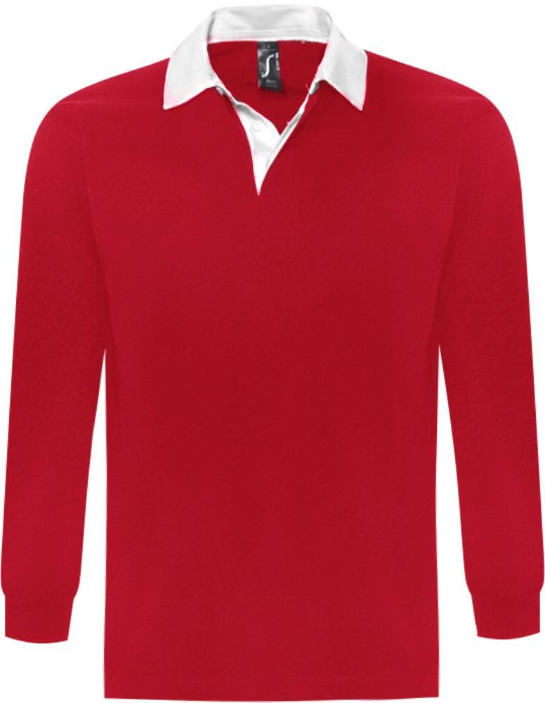 ebba67609da Рубашка поло мужская с длинным рукавом PACK 280 красная