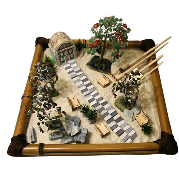 настольный японский сад фото детали