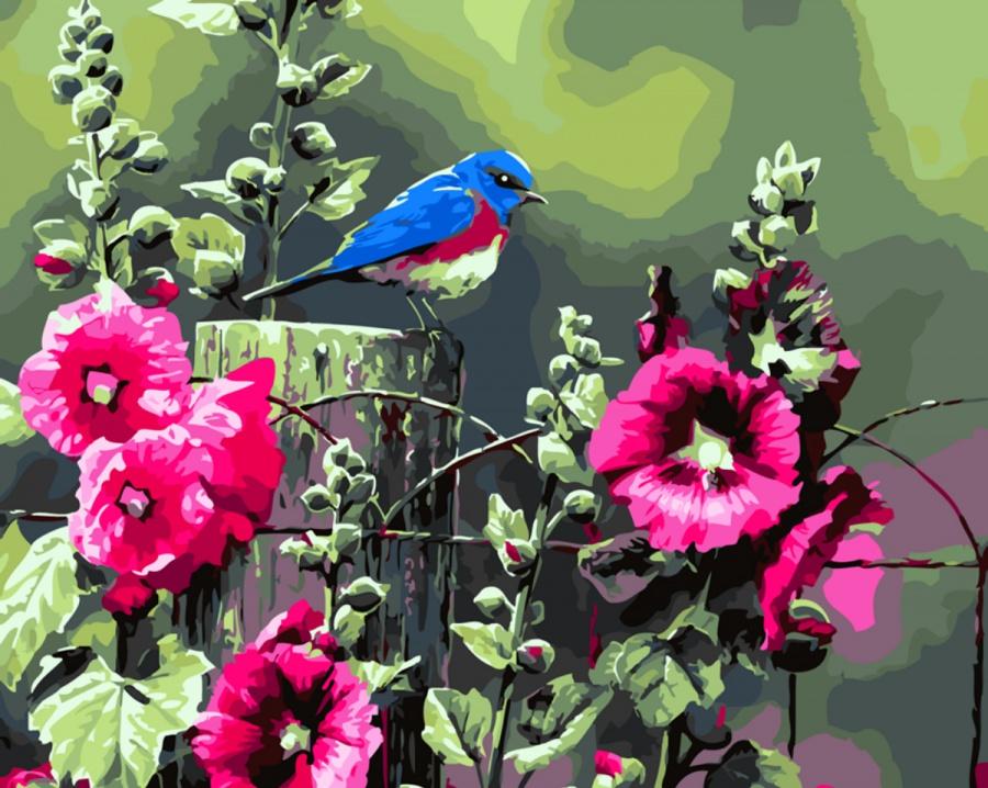 сожалению, рисунки красивых птиц на цветах конце века