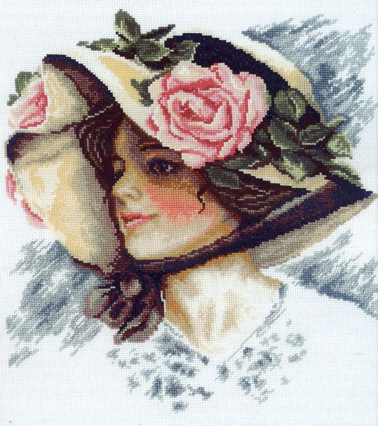 Вышивка лентами портреты дамы в шляпах технология вышивки картинки