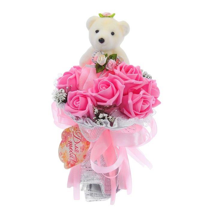 лесная хозяйка, фото подарок белый игрушка мишка роза есть люди, которые