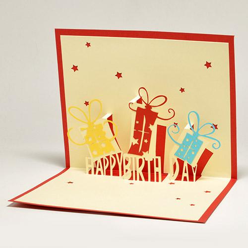 Подарки на день рождения объемная открытка