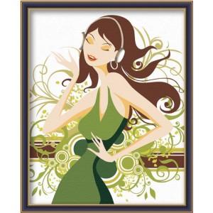 Раскраски по номерам - Модница (артикул G 001) 1473138 ...
