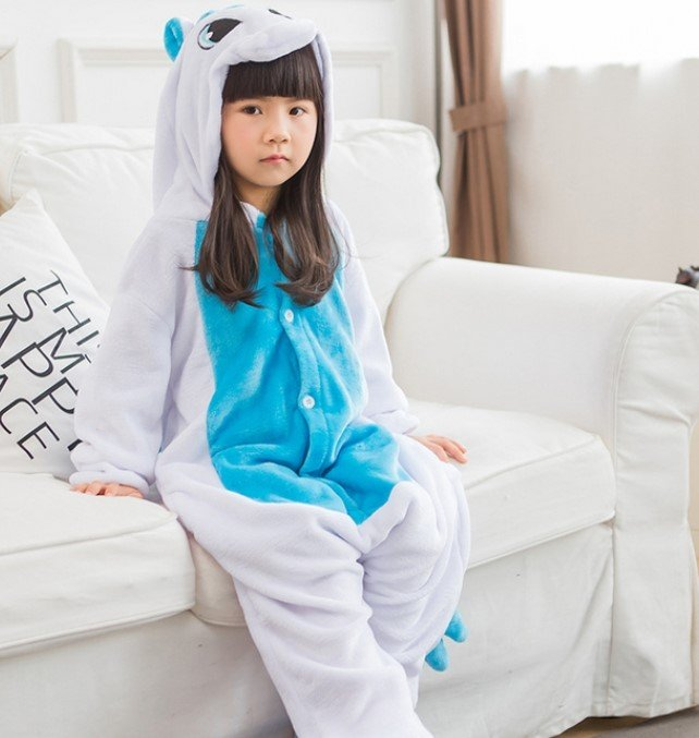 Пижама кигуруми единорог для детей (130 размер (длина изделия до плеч - 115  см  объем груди - 96 см  плечи - 44 см  рукав - 49 1dbaeeb233fdc