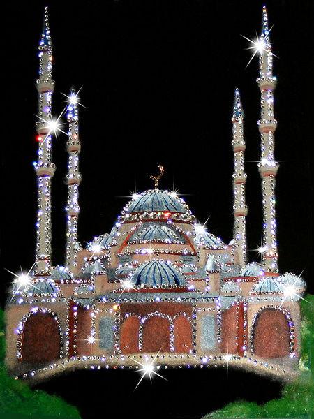 Мерцающие открытки мечеть, наступающей троицей