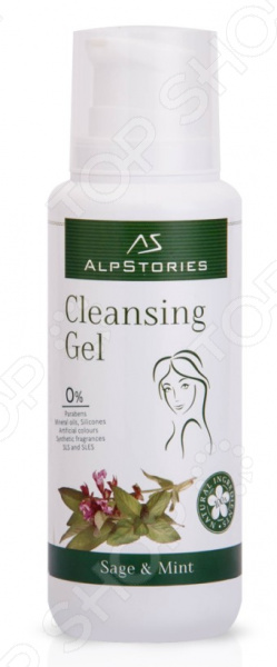 Очищающий гель «AlpStories» с экстрактом шалфея и мяты Cleansing Gel Sage & Mint - фото